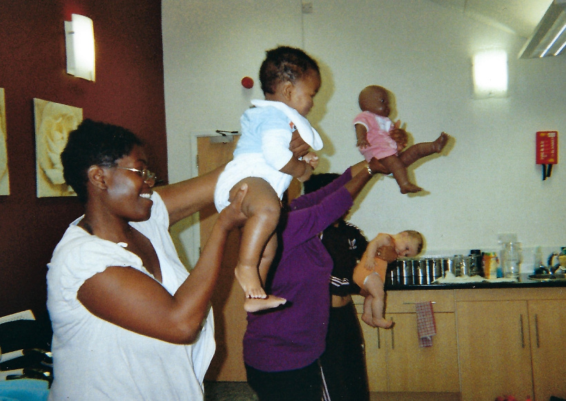 Popular baby yoga multicultural class 1998