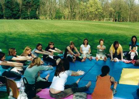 Culford grounds open-air class